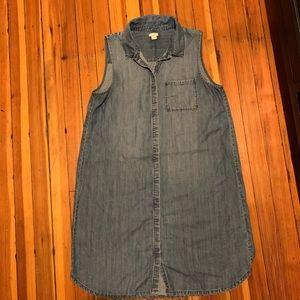 J Crew denim dress size Medium